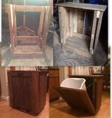 kitchen trash can ideas pallet trash can cabinet my creations pallets