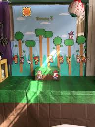 Halloween Event Terraria Mobile by Diy Terraria Backdrop My Diy Terraria Birthday Party Pinterest