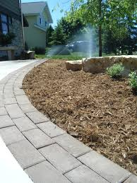 Backyard Ideas With Pavers Pavers Edging A Driveway Looks Great Designed And Implemented By
