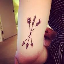 wonderful arrows crossby tattoo on arm tattoos pinterest