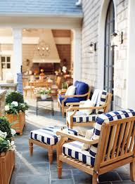 White Outdoor Furniture Navy White Teak And Silvered Shingles Outdoors Pinterest