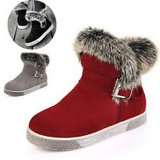 s boots with fur winter leather ankle boots fur lined buckle