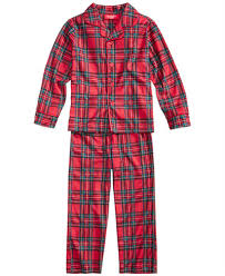 family pajamas boys or plaid pajama set created
