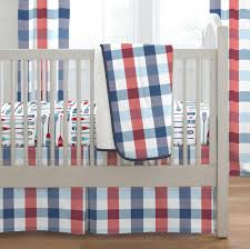 Blue And Brown Crib Bedding by Navy And Red Buffalo Check Crib Bedding Carousel Designs