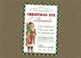 christmas brunch invitations vintage santa printable invitation christmas brunch or