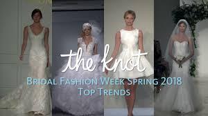 Wedding Dress Trend 2018 Bridal Fashion Week Spring 2018 Top Trends Youtube