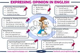 M Me In English - expressing opinions in english english study page