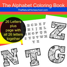 kids u0027 alphabet coloring pages printable the natural homeschool