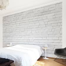 non woven wallpaper premium white stonewall mural wide
