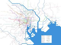Massimo Vignelli Subway Map by Tokyo Map Transport Subway Other Urban Rail Services Png 3 577