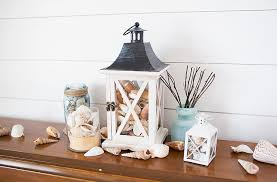 lantern centerpiece diy tutorial coastal lantern decor consumer crafts