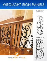 wrought iron panels are used to add a decorative focal point into