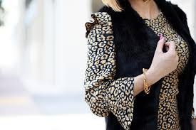 thanksgiving vest back to leopard animal print dress black fur vest blame it on