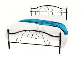 Black Metal Bed Frame Metal Beds Sussex 5ft 150cm Kingsize Crystal Black Metal Bed