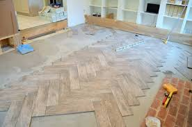 Herringbone Laminate Flooring How To Tile A Herringbone Floor Family Room 10