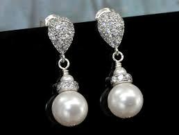teardrop stud earrings buy a crafted bridal pearl earrings simple drop pearl on a