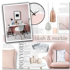 polyvore home decor blush and marble home decor polyvore marble decor custom decor