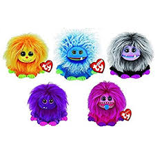 amazon ty frizzy beanie boo collection 5 plush 6