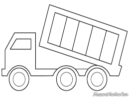 dump truck coloring page free download