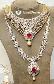 diamond long necklace images Diamond necklace and haram set designer jpg