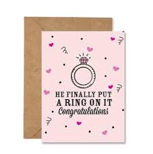 wedding congratulations card he finally put a ring on it beyonce wedding congratulations folded