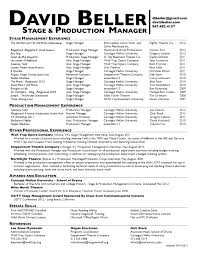 Stagehand Resume Examples by Stagehand Resume Examples