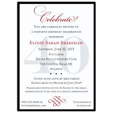 classic 40th birthday celebrate milestone invitations paperstyle