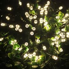 waterproof led solar string lights 22m 72ft 200 warm white leds