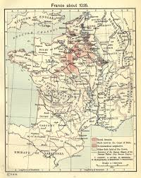Map Of France Cities by Map Of France Around 1035