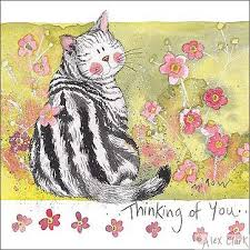 thinking of you cards cat card thinking of you alex clark tattypuss cats