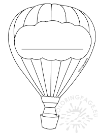 air balloon decoration template coloring page