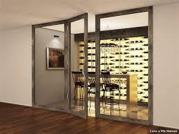 cuisine avec cave a vin salle a manger noir et bois 7 cave a vin maison with contemporain