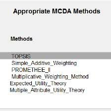 design criteria questions questions related to evaluation criteria for method selection in