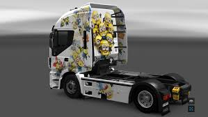 skin pack new year 2017 for iveco hiway and volvo 2012 2013 the minions skin for iveco hi way modhub us