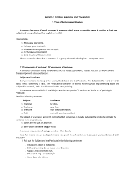 Declarative And Interrogative Sentences Worksheets Section I English Grammar And Vocabulary 1 Types Of Sentences