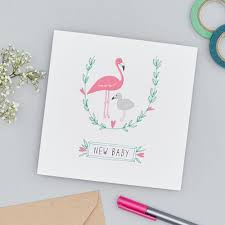 baby card flamingos new baby card baby cards and flamingo