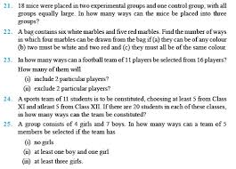 class 11 important questions for maths u2013 permutations and