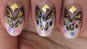 fun colorful and stylish nail art foil design youtube