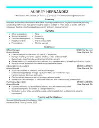 Resume Examples  Retail Manager Resume Examples For Office Manager With Professional Experience As Assistant Manager