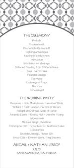 simple wedding program template simple retro wedding program