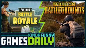 pubg vs fortnite pubg vs fortnite kinda funny games daily 09 22 17 youtube