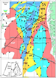 North Sea Map The Cretaceous Post Rift Basin Configuration Of The Northern North