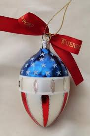 glass ornaments god bless america flag