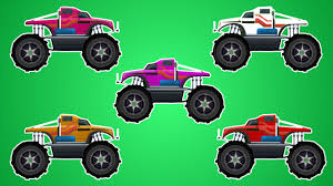 monster trucks kids video monster trucks learn colors coloring toy trucks kids video