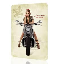 Harley Davidson Home Decor by Chiroladas Retro Stuff Metal Sign American Bombshell 4 Harley