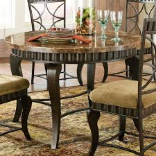 round dining table metal base steve silver hamlyn round dining table w marble top metal base