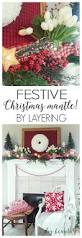 decorating a festive christmas mantle diy beautify