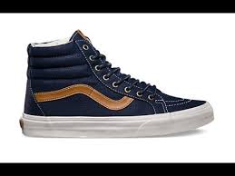 vans sk8 hi blue and brown vans shoes india