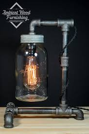 diy mason jar light with iron pipe 358 best iron pipe lighting images on pinterest build your own