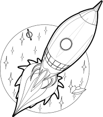 rocket clipart drawing space pencil and in color rocket clipart